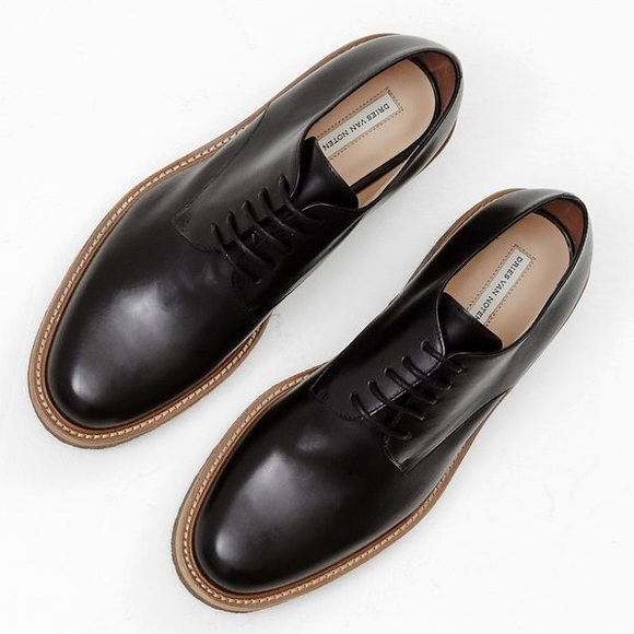 739f61447f Dries Van Noten Shoes - Dries Van Noten Leather Derby Lace Up Oxfords